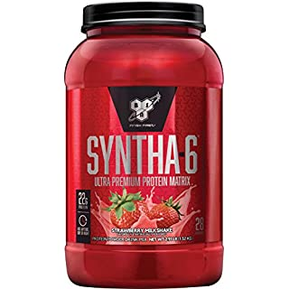 BSN Syntha 6 Sustained Release Strawberry Whey Protein Powder 1320g