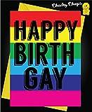 Funny Cheeky LGBT Gay Geburtstag Karten–Happy birthgay L5