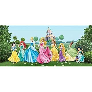 AG Design Prinzessinen Disney Princess Schloss Fototapeten, Vlies, Bunt, 202 x 90 cm