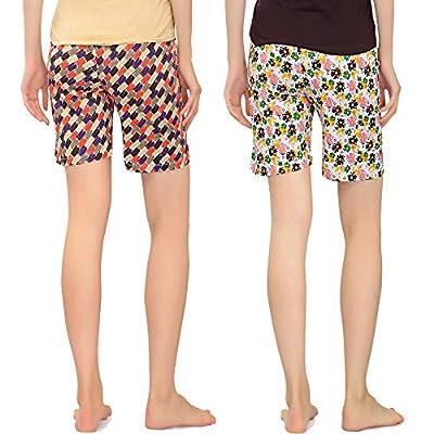 Zebu Women's Printed Shorts (Pack of 2)