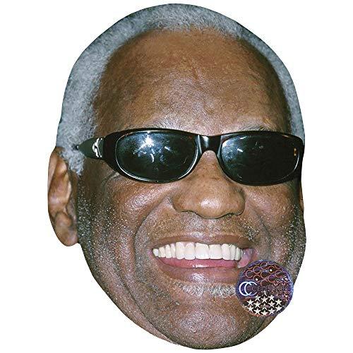 Celebrity Cutouts Ray Charles (Glasses) Maske aus Karton