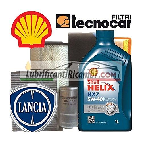 shell tecnocar Lancia YPSILON I 1.2 16V Kit Cambio Olio e Filtri Serie codice Motore:188A5000 codice Motore: 188A1000