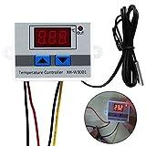 qind 12/24/220V Digital LED Temperatur Controller, DC 12V 10A Multifunktions Temperatur Controller Thermostat Control Switch-50–110℃ mit Sensor Sonde, DIGITAL Thermostat Controller mit LED-Display, Wie abgebildet, 12 V