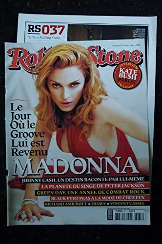 ROLLING STONE 037 2006 FEVRIER COVER MADONNA 8 PAGES LE JOUR OU LE GROOVE LUI EST REVENU (Rolling Magazin-cover Stone)