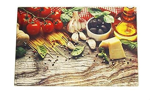 Planche à découper en verre trempé plateau de cuisine de table à dessert ou fromage résiste à la chaleur multifonctions – 20 x 30 cm -