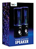 tec+ Dancing Water Speakers Tragbare USB Lautsprecher mit buntem LED Wasserspiel Lichteffekt für PC, Mac, MP3-Playern, Smartphones und Tablets einschl. iPhone 4/4S/5/5S/5C/SE/6/6 Plus/6S/6S Plus, iPad 2/3/4/Air/Mini/Pro, iPod Nano 7, iPod Touch 5, Samsung Galaxy S3/S4/S5/S6/S6 Edge/S6 Edge+/S7/S7 Edge, Galaxy Note 2/3, Galaxy Tab 2/3/4, Xperia Z1/Z2, HTC One/One M8 und Google Nexus 5/7/10  - Schwarz