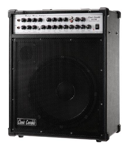 Classic Cantabile Multiple Amp X-11R, 5-Kanal-Verstärker für Gitarre, Bass,  2x Gesang und CD/MP3-Player(Leistung: 200 Watt, 12' Lautsprecher, 3-Band EQ, Effekt Sektion mit Hall und Echo Effekt)