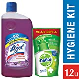 Lizol Floor Cleaner Lavender 975 ml with Dettol Handwash Refill 175 ml Free (Any Variant)