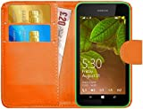 G-Shield Hülle für Nokia Lumia 530 Klapphülle mit Kartenfach - Orange