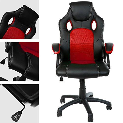 Panorama24 Gamer Stuhl Gaming Chair Chefsessel Bürostuhl Ergonomisch, 9 Farbvarianten, gepolsterte Armlehnen, Wippmechanik, belastbar bis 150 kg, Lift TÜV