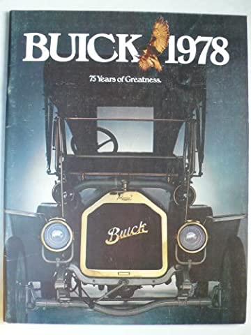 "Prospekt / brochure - 1978 Buick (Book) mit Skyhawk, Skylark, Century and Regal, Riviera, Le Sabre, Electra, Estate Wagon + sheet ""engines"" - Original - sehr schön"
