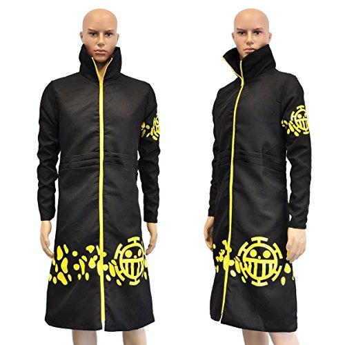 Abrigo de Trafalgar Law de One Piece después del salto temporal, talla: XL