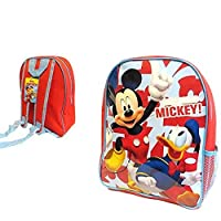Mickey Mouse & Donald Duck (Here Comes Mickey!) Junior Backpack (Approx Size 31x24x10 cm