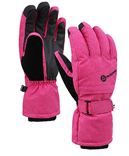 Damen-profil-snowboard Handschuhe (Women's Classic Zippered Pocket Touchscreen Ski Glove,Pink,S)