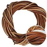 Analys CC 1 pièce 320cm 【126 pouces】 4x3.5mm carrés en lacet cuir Bonne qualité lacet cuir timberland (黄棕色)