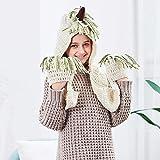 WANZIJING Strickmütze Beanie Kapuze Hat Mädchen Einhorn Stricken Hut Winter Wolle Gestrickte Hüte Schals mit Quaste (2-12 Jahre),UnicornHatandScarfsmall