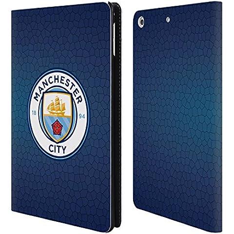 Ufficiale Manchester City Man City FC Ossidiana mosaico colore Badge Pixel Cover a portafoglio in pelle per Apple iPad mini 4