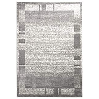 A2Z Rug Palma-9958 Contemporary Grey 120x170cm - 3'11