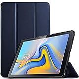 IVSO Hülle für Samsung Galaxy Tab A 10.5 SM-T590/T595, Slim Schutzhülle mit Auto Aufwachen/Schlaf Funktion Perfekt Geeignet für Samsung Galaxy Tab A SM-T590/SM-T595 10.5 Zoll 2018, Blau