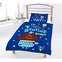 Hey Duggee Kids Duvet Cover Single Junior Bed Squirrel Club Bedding Sets for Boys Toddlers Cot Bed Covers Reversible Design
