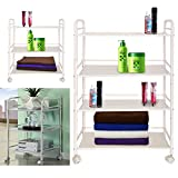 MultiWare Beauty Salon Trolley Therapy Dentist Hairdresser 3 Shelves Mini Side