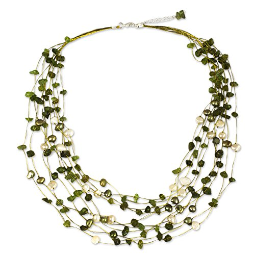 novica-peridot-und-gefarbt-swz-perle-strand-halskette-508-cm-mit-51-cm-extender-cool-dusche-