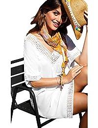 Vestido túnica guipur de fantasía en el Escote Mujer by Vencastyle - 025521