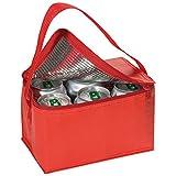 Borsa frigorifera da trasporto, per pranzo o picnic, termoisolante, in tela a strisce small Red