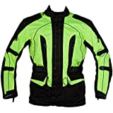Texpeed Herren , High Visibility Waterproof CE Armoured Motorcycle Textile , Gr.