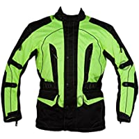 Texpeed Men's High Visibility Waterproof CE Armoured Motorcycle Textile Jacket
