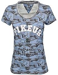 PIKEUR Damen Shirt mit Print DENIZ Next Generation Frühjahr/Sommer 2017, smoked blue, 34