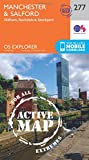OS Explorer Map Active (277) Manchester and Salford (OS Explorer Active Map)