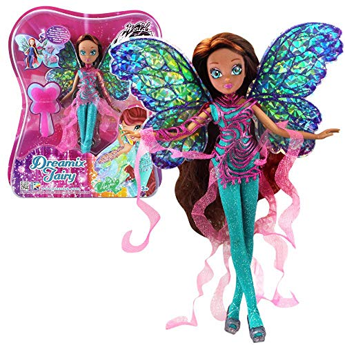 World of Winx - Dreamix Fairy Puppe - Fee Layla Aisha magisches Gewand
