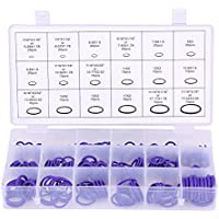 Qiilu 270pcs Clasificado Juego de juntas del sello del anillo tórico del compresor del aire acondicionado del auto Sellos de goma arandelas(purple)