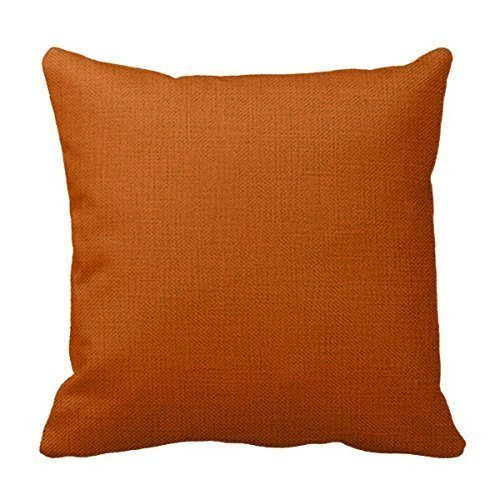 WITHY Burnt Orange Throw Pillow Cushion Cover Decorative Square Individuality Pillow Case,Cover Size:18 x 18 Inch(45cm x 45cm) Ut Burnt Orange