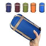 SANVA ultraleicht, klein, warm Schlafsack Hüttenschlafsack, Outdoor Wasserdicht Camping Sleeping Bag Sommerschlafsack (Blau, 190x75cm)