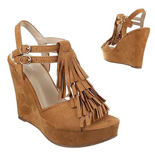 Ital-Design - Sandali  donna Marrone (Brown - Camel)