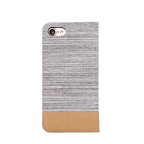JIALUN-Telefon Fall Zweifarbige Stitching Card Slot Slotted Phone Case für IPhone 7 Plus ( Color : Rosegold ) Gray