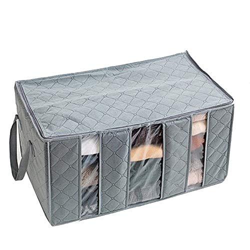 Sulifor Aufbewahrungsbox Aufbewahrungstasche, 65L große Kohle Kleidung Pullover Decke Schrank Aufbewahrungstasche Aufbewahrungstasche -