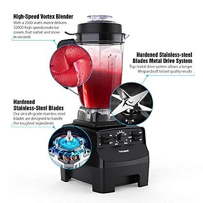 Standmixer-Smoothie-Makerhomgeek-2000W-2L-Tritan-Behlter-BPA-Free-Edelstahl-Standmixer-10-GeschwindigkeitsstufenDeckel-mit-NachfllffnungImpuls-Ice-Crush-Funktion-Energieklasse-A