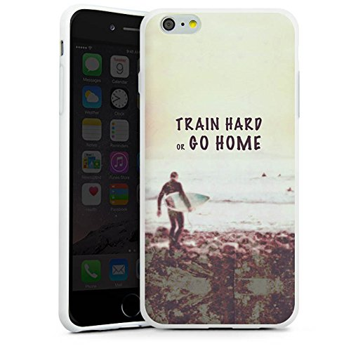 Apple iPhone X Silikon Hülle Case Schutzhülle Sport Training Fitness Silikon Case weiß