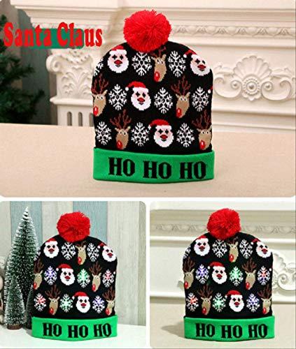 Faroot1pzas Unisex padre sombrero de Santa Familia regalo de para adultos niños bebé lote de sombreros de ilumi de punto de 30 X CM C
