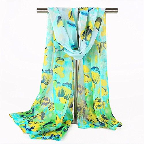YRXDD Chiffon Schal Sommer Trim Schal Schal Strand Shirt Schal Wild Lady,Blue Onion 50 * 160cm (Trim Decke Baby)