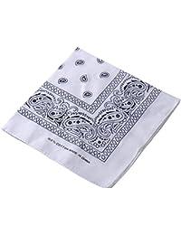 Pañuelo para la cabeza multifuncional estilo retro con estampado de cachemira; también se puede usar