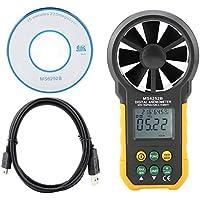 Semme PEAKMETER PM6252B Anemómetro Digital, medidor de Velocidad de Viento portátil de Alta precisión Medidor Medidor de Volumen de Aire para recolección de Datos meteorológicos