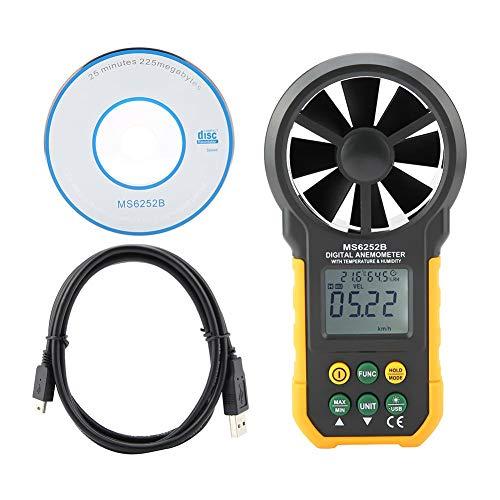 Semme PEAKMETER PM6252B Anemómetro Digital, medidor de Velocidad de Viento portátil de Alta precisión...