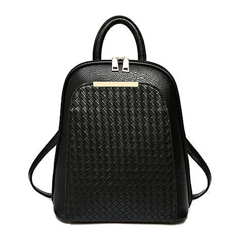 Leder Handtasche Umhängetasche Schulranzen Mädchen Rucksack Reißverschluss Hobo Tasche