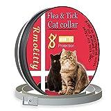 Rmolitty Collar Antiparasitario para Gatos, contra Pulgas, Garrapatas y Mosquitos 8 Meses de Protección, 35cm para Pequeña Medio Grande Gatos (35cm)