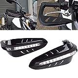 LEAGUE&CO 5 Farben Motorrad Fahrräder Protektor Handschutz Handschützer 7/8' mit LED...