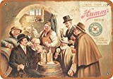 CDecor Hamm's Beer 3 Blechschilder, Metall Poster, Retro